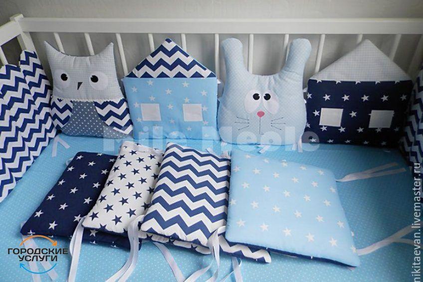 Бортики в детскую кроватку, постельное, одеяло