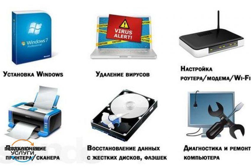 Ремонт и настройка компьютеров