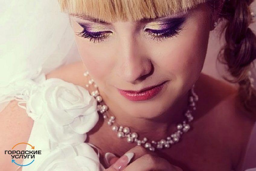 Свадебный макияж, прическа на дом